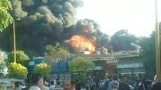 آتشسوزی مهیب انبار روغن در قزوین