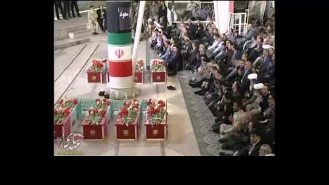 مراسم تشییع پیکر جانباختگان حادثه منا در دانشگاه تهران