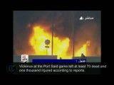 آتش سوزی در ورزشگاه قاهره