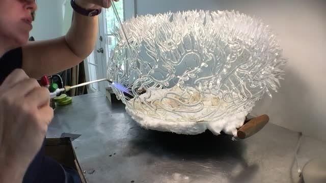 مجسمه های شیشه ای ظریف با الهام از زندگی زیر آب