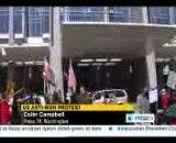 اهتزاز پرچم ایران در مقابل محل برگزاری نشست لابی یهودیان آمریکا