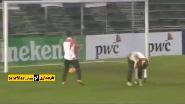 حرکات تکنیکی و نمایشی ستارگان فوتبال در تمرینات