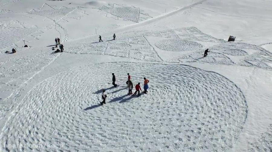 هنرنمایی باورنکردنی روی برف