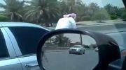 رفتار محشر یک راننده سعودی!