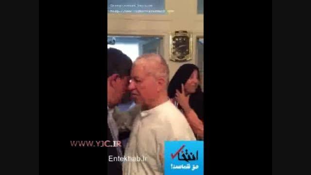 فیلم / لحظه خداحافظی مهدی هاشمی با پدرش