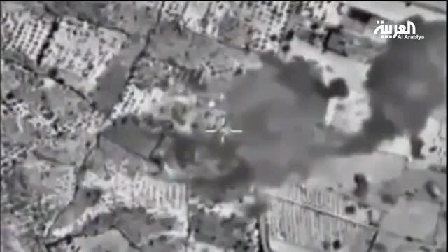 بمباران مواضع ترویست ها در سوریه توسط روسیه