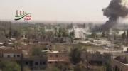 حمله هوایی به پایگاه تروریست ها در سوریه