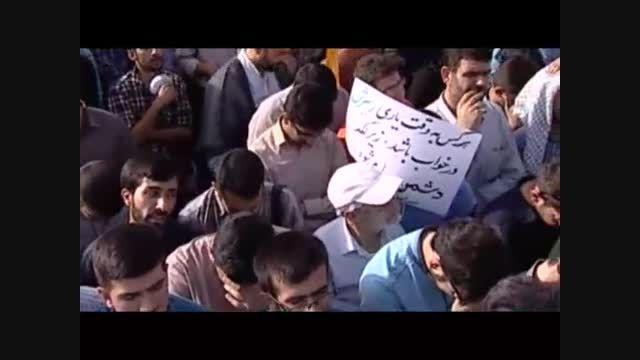 مداحی محمود کریمی در تشییع ۲۷۰ شهید دفاع مقدس