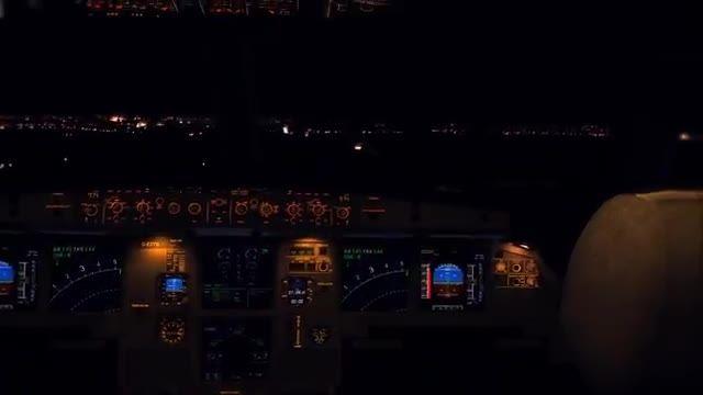 تصاویر باورنکردنی فرود ایرباس 320 در شب،شبیه ساز الماس