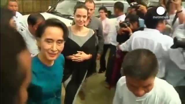 دفاع از حقوق زنان؛ هدف اصلی سفر آنجلینا جولی به میانمار