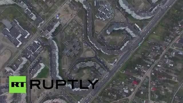 تصویر هوایی مجموعه آپارتمانهای شیطان 666 در بلاروس