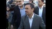 حضور احمدی نژاد در تمرین تیم ملی فوتبال
