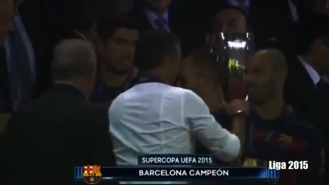 بارسلونا 5 - 4 سویا (گل ها و لحظات حساس سوپر کاپ یوفا)