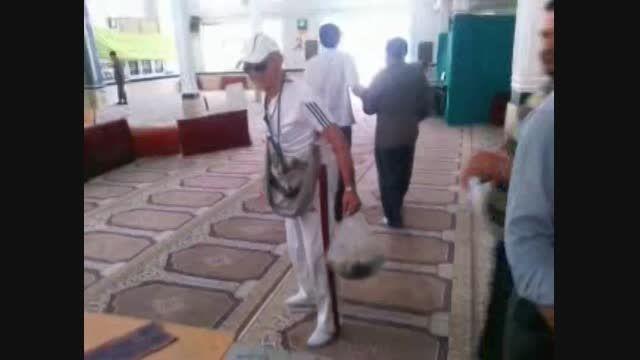 حرکت ورزشی پیرمرد 80 ساله در انتخابات ریاست جمهوری 92