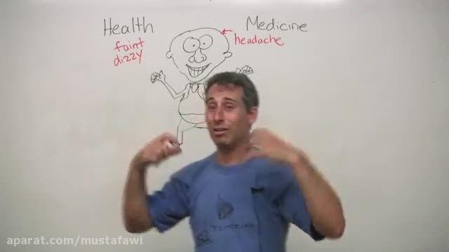 آموزش مکالمه زبان انگلیسی - صحبت درباره ی بیماری