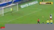 خراب کردن پنالتی فرانسه توسط کریم بنزما در بازی با سوئد