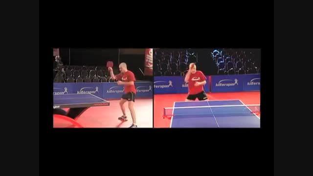 آموزش پینگ پنگ ، نحوه انداختن توپ برای شروع تمرین