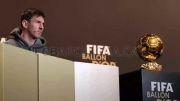 عکس و فیلم مسی در مراسم فیفا گالای 2013