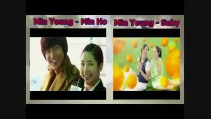 10کلیپ زیبا از مین یانگ با 10 بازیگر معروف کره ای