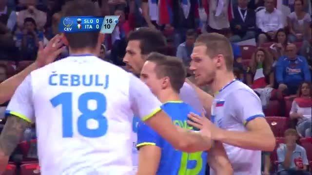 اسلوونی 3 - ایتالیا 1 | قهرمانی والیبال اروپا ۲۰۱۵