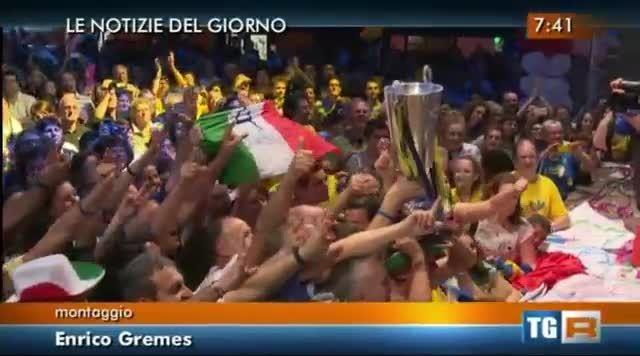 جشن قهرمانی ترنتینو با هواداران