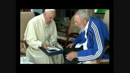 ملاقات پاپ با فیدل کاسترو