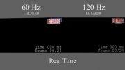 فرق بین نرخ انطباق تصویر بین تلویزیون های 60 هرتر و 120