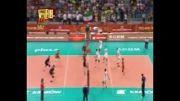 رالی طولانی بازی ایران - بلژیک و تلاش فرهاد ظریف