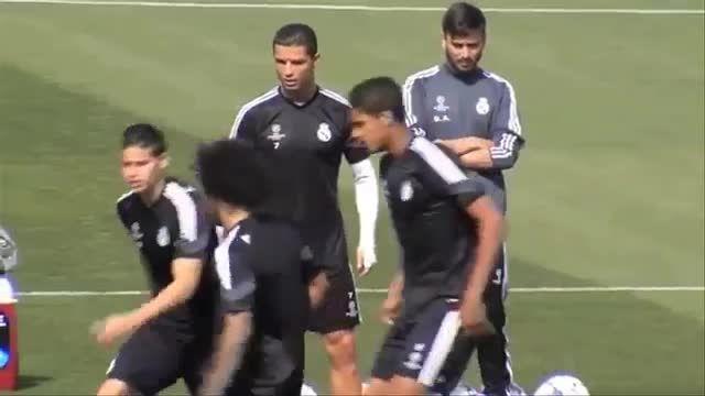 کریستیانو رونالدو از حضور در رئال مادرید خوشحال است.