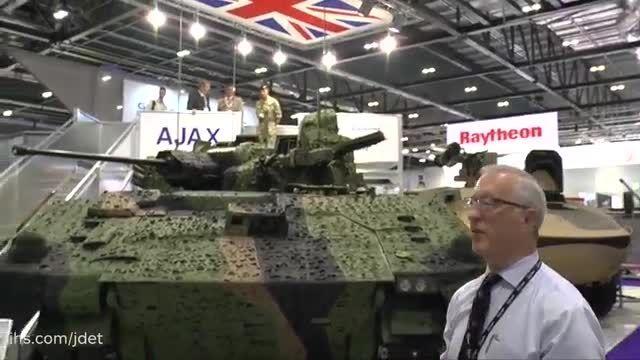 خودروی رزمی پیاده نظام Ajax در نمایشگاه دفاعی DSEI 2015