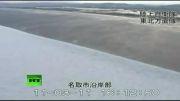 تصاویر لحظه سونامی در ژاپن