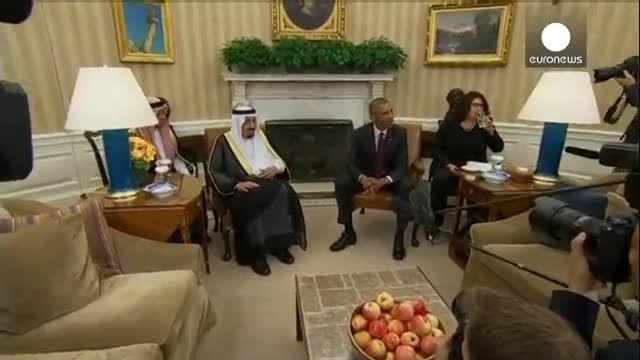 دیدار ملک سلمان و باراک اوباما در واشینگتن