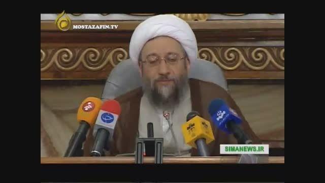 واکنش آملی لاریجانی به اشتباه فاحش و راهبردی روحانی