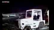 آخرین کلیپ سانحه فرود اضطاری بوئینگ سعودی از مشهد در مدینه