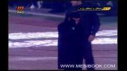 صحنه خطای مشکوک به پنالتی در محوطه جریمه استقلال خوزستان