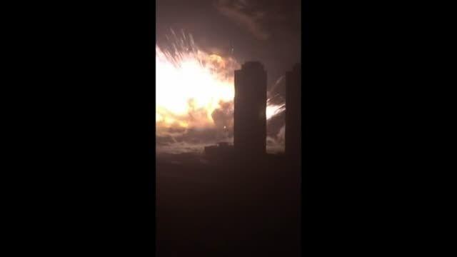 موج انفجار در بندر تیانجین چین