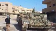 منهدم کردن تانک داعش توسط مردم کوبانی