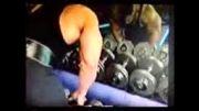 جلو بازو با وزنه 100 کیلویی