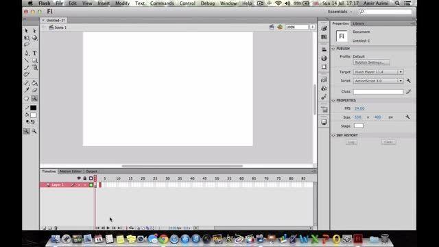 آموزش فلش Adobe Flash CS6 بخش 5 از 6