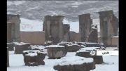بارش برف در زیباترین مجموعه تاریخی ایران