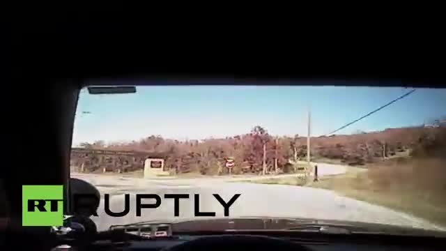 تصادف شاخ به شاخ سارق خودرو و ماشین پلیس آمریکا