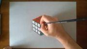 نقاشی حیرت انگیز روبیک سه بعدی