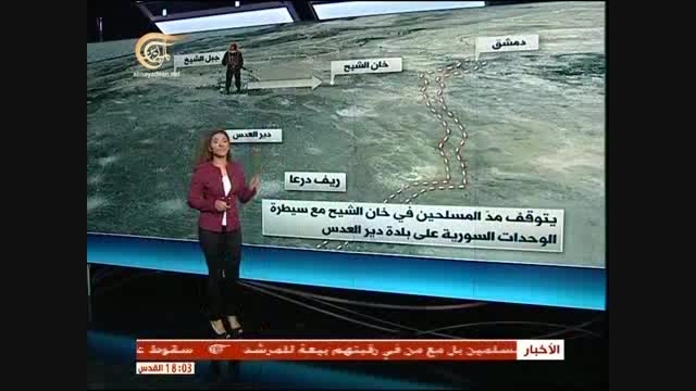 پیشروی ارتش سوریه در مثلث حومه های دمشق – درعا – قنیطره