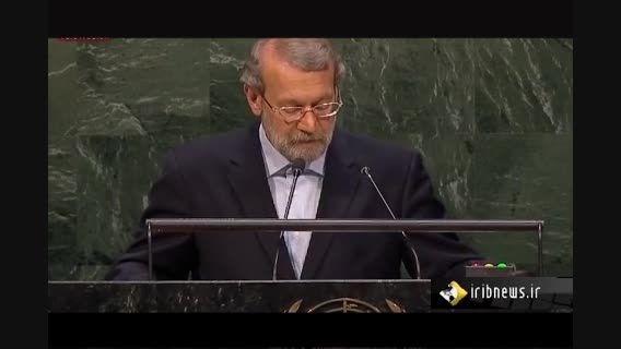 دکتر لاریجانی در نشست سران مجالس دنیا صحبت کردند