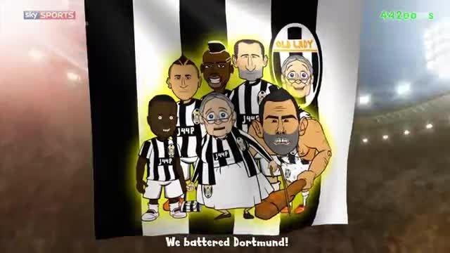 فینال لیگ قهرمانان اروپا 2015 به روایت کارتون