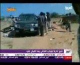 کاروان حامل قذافی پس از حمله هواپیماهای ناتو