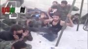 اسارت عده ای از سربازان بشار اسد توسط مخالفان
