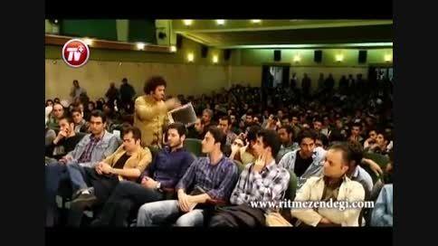 اعتراض های یک پسرجوان درکلاس بازیگری شهاب حسینی جنجالی