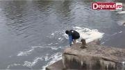 نجات سگ از مرگ حتمی و خوشحالی سگ از نجات!