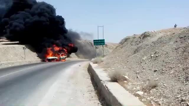 اتش سوزی لگن پژو پارس ایران خودرویی